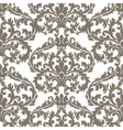 Baroque pattern with Damask ornament vector image