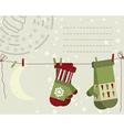 Christmas post card vector image