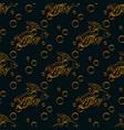 goldfish seamless pattern vector image