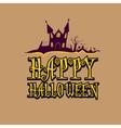 happy halloween card design template vector image