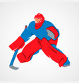 player hockey goalie vector image