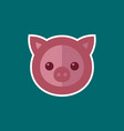 simple pig icon vector image