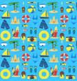 summer rest background pattern on a blue vector image