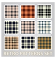abstract retro patterns set textile background vector image vector image