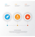 army icons set collection of aircraft military vector image