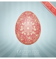 The Easter egg with a floral pattern ornament vector image