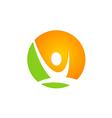 active people sport logo vector image