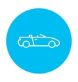 Convertible car line icon vector image