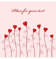 abstract vector flower with heart vector image