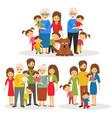 big happy family vector image