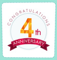 colorful polygonal anniversary logo 3 004 vector image