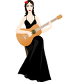 guitarplayer vector image