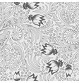 Khokhloma decorated seamless texture line art vector image