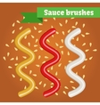 sauce brushes vector image