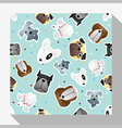 Animal seamless pattern collection with dog 3 vector image