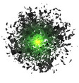sharp particles randomly fly in the air vector image