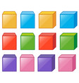 different cube boxes in many colors vector image