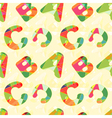 Colorful ABC Seamless Pattern vector image vector image