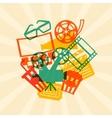 Movie and cinema retro background vector image vector image