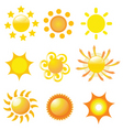sunshine icons vector image