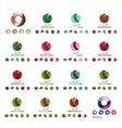 Set of modern circle globe or sphere logo concept vector image vector image