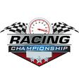 Racing Championship icon vector image vector image