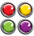 Colored buttons vector image