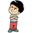 Boy angry vector image