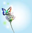 Butterfly and flower vector image