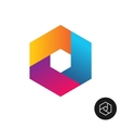 Hex tech logo abstract colorful style vector image