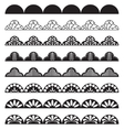 Lace border pattern brush for hem decoration vector image