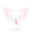 national breast cancer awareness month pink vector image
