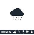 Snow icon flat vector image