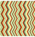 Zigzag stripes in retro colours seamless pattern vector image
