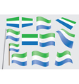 flag of Sierra Leone vector image vector image
