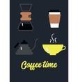 Coffee brewing vector image