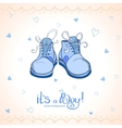 Boy shoes vector image