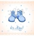 Boy shoes vector image vector image