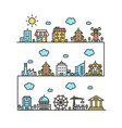 city street house building outline design vector image