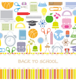 Background school icons vector image vector image