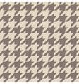 Tile brown houndstooth pattern vector image