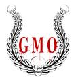 GMO emblem vector image