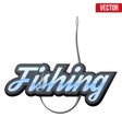 Fishingl label and badge vector image