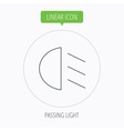 Passing light icon Dipped beam sign vector image
