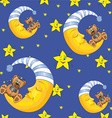 Cresent moon pattern design vector image