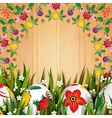 Easter Folk Card vector image