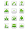 Green eco icons set vector image vector image