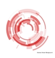 abstract red rings vector image
