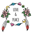 Boho wreath with sign vector image
