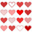 collection of cute hearts stickers vector image